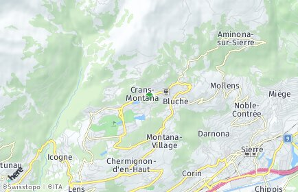 Stadtplan Crans-Montana OT Mollens (VS)
