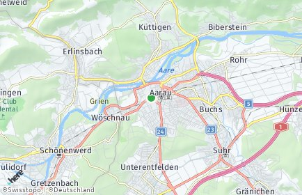 Stadtplan Aarau OT Rohr