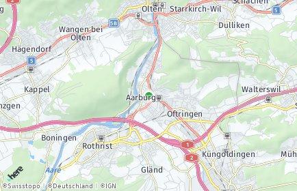 Stadtplan Aarburg