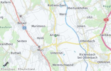 Stadtplan Aristau
