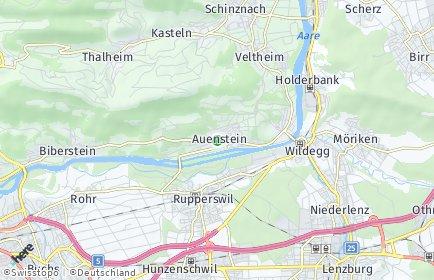 Stadtplan Auenstein