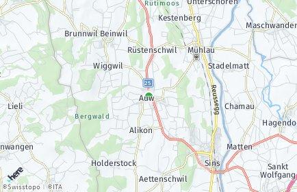 Stadtplan Auw
