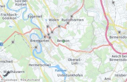 Stadtplan Berikon