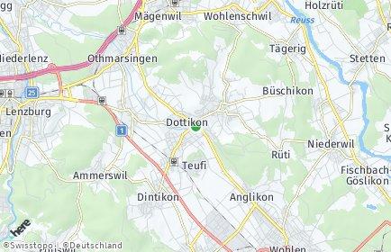Stadtplan Dottikon