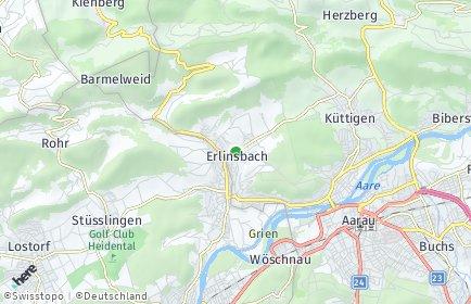 Stadtplan Erlinsbach (AG)