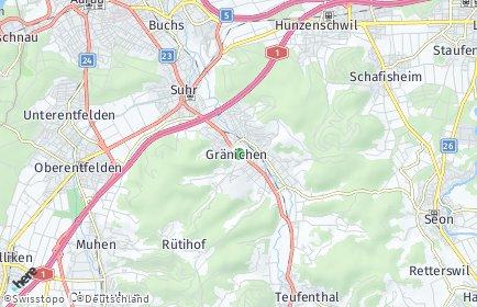 Stadtplan Gränichen