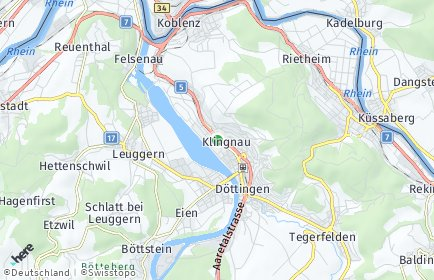 Stadtplan Klingnau