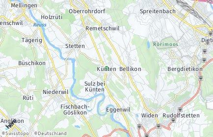 Stadtplan Künten