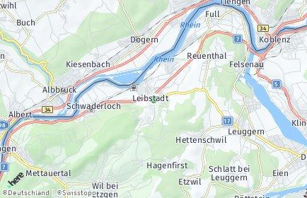 Stadtplan Leibstadt