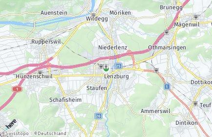 Stadtplan Lenzburg