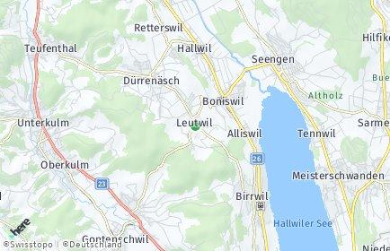 Stadtplan Leutwil
