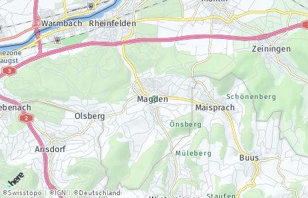 Stadtplan Magden