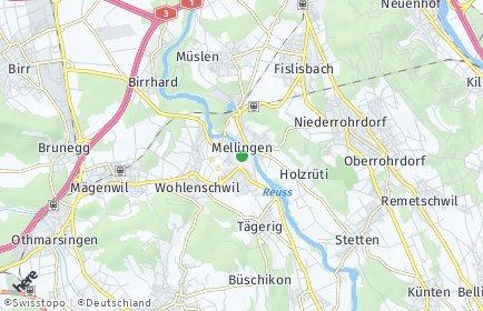 Stadtplan Mellingen