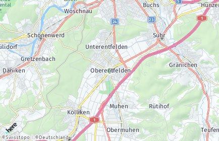 Stadtplan Oberentfelden
