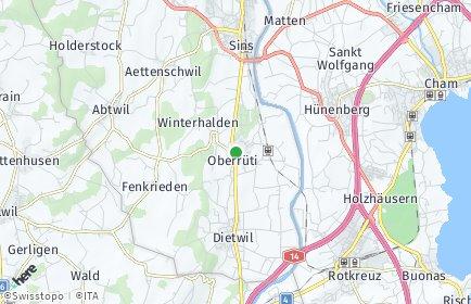 Stadtplan Oberrüti
