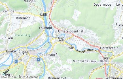 Stadtplan Turgi