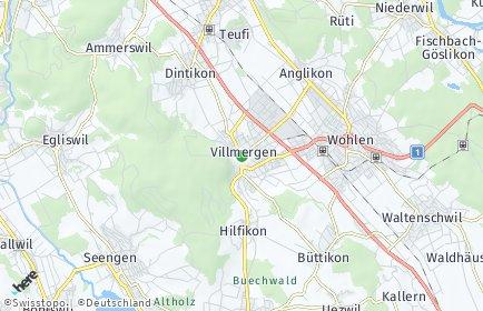 Stadtplan Villmergen