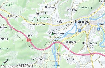 Stadtplan Villnachern