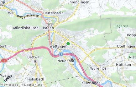 Stadtplan Wettingen