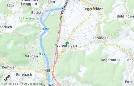 Stadtplan Würenlingen