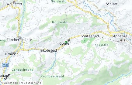 Stadtplan Gonten