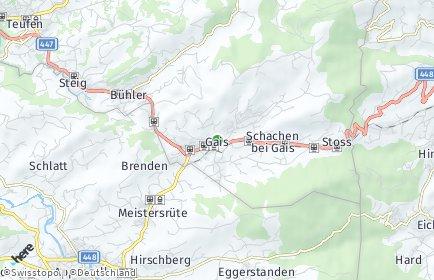 Stadtplan Gais