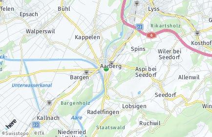Stadtplan Aarberg