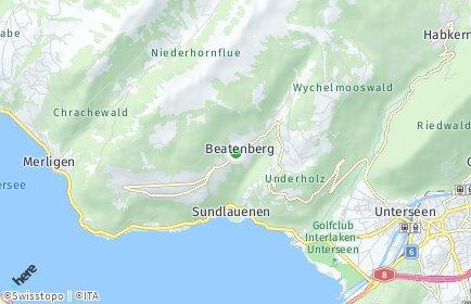 Stadtplan Beatenberg OT Beatenberg