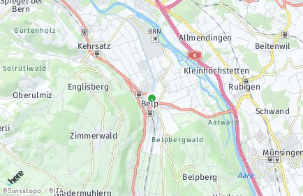Stadtplan Belp OT Belpberg