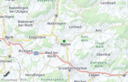 Stadtplan Biglen