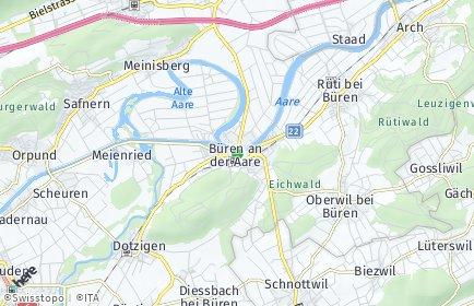 Stadtplan Büren an der Aare