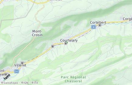 Stadtplan Courtelary