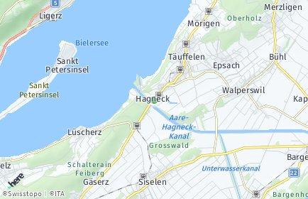 Stadtplan Hagneck
