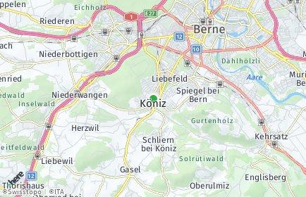 Stadtplan Köniz OT Niederwangen