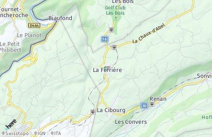 Stadtplan La Ferrière
