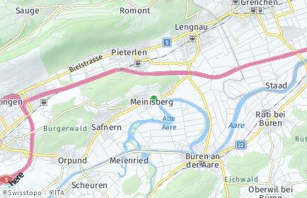 Stadtplan Meinisberg