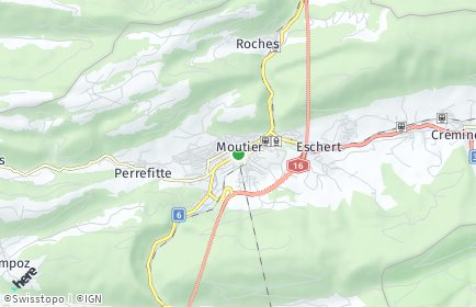 Stadtplan Moutier