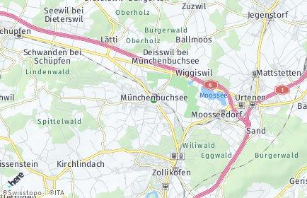 Stadtplan Münchenbuchsee