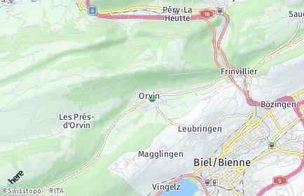 Stadtplan Orvin