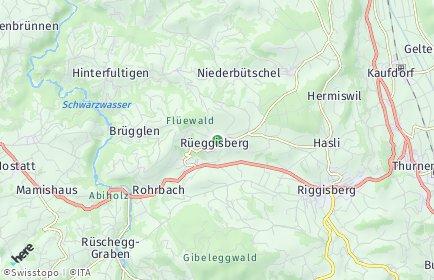 Stadtplan Rüeggisberg
