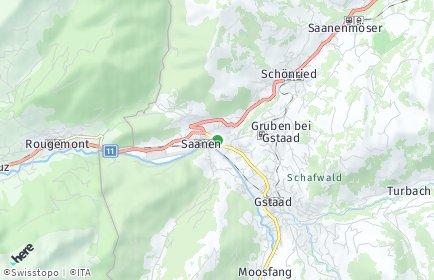 Stadtplan Saanen