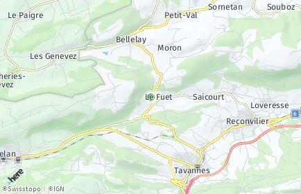 Stadtplan Saicourt