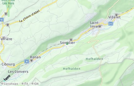 Stadtplan Sonvilier