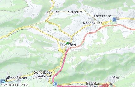 Stadtplan Tavannes