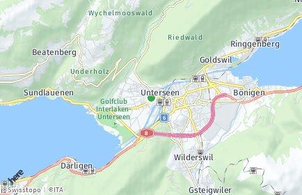 Stadtplan Unterseen