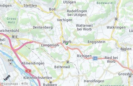 Stadtplan Worb OT Enggistein