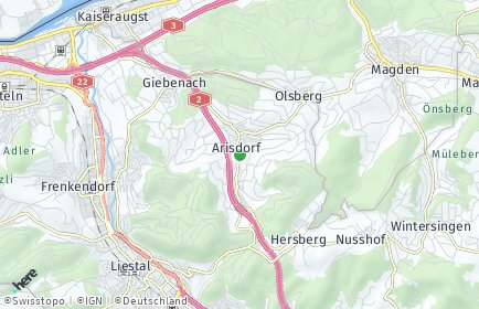 Stadtplan Arisdorf