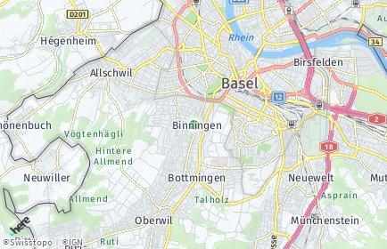 Stadtplan Binningen OT Binningen