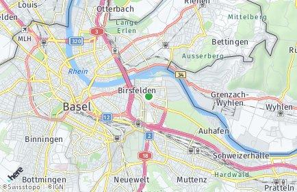 Stadtplan Birsfelden