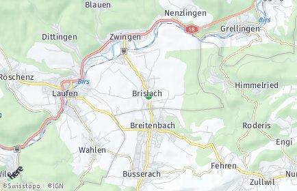 Stadtplan Brislach